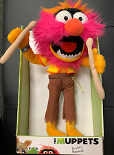 "New! Mint Disney The Muppets 12"" ANIMAL Plush Bendable Animal W Drumsticks Clean"