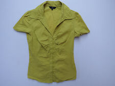 D-131 LADIES CUE FITTED BLOUSE TOP SHIRT Chartreuse COLOR SIZE 8 AS NEW