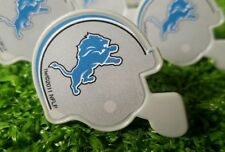 Detroit Lions Cupcake Toppers Rings Birthday Cake NFL Lot of 12 Mini Helmets