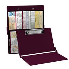 Whitecoat Clipboard Nursing Edition Folding Medical Wine Burgendy Full Size New