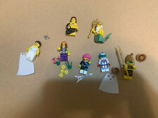 7 - LEGO COLLECTIBLE MINIFIGURES OCEAN KING AZTEC WARRIOR USED IN GREAT SHAPE