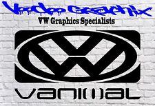 VOLKSWAGEN VW vanimal ventana adhesivo con el logotipo de Parachoques Transporter T6 T5 T4 caravanas