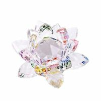 3.4 inch Rainbow Crystal Lotus Flower with Gift Box for Feng Shui Home Decor  G9