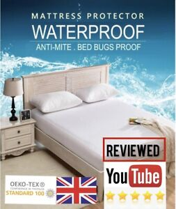 Waterproof Mattress Protector Premium Extra Deep Fitted Terry Cotton All Sizes