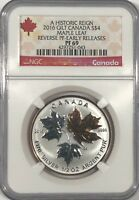 2016 $4 CANADA SILVER MAPLE LEAF GILT NGC PF69 UCAM REVERSE PROOF 1/2 OZ PR69
