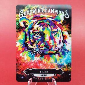 Tiger Animal 2020 Upper Deck Goodwin Champions 3D Card - MINT