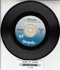 "BLONDIE  Heart Of Glass 7"" 45 rpm vinyl record BRAND NEW + jukebox tile strip"