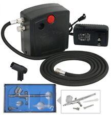 TC-100 Dual Action Mini Air Compressor Airbrush Kit