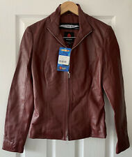 DR WHO BURGUNDY RED MARTHA JONES 100% LEATHER JACKET COAT S SMALL NEW COSPLAY