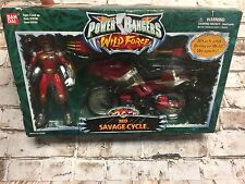 Bandai Saban's Power Rangers Wild Force Red Savage Cycle