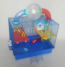 Large Hamster Cage With Integral Ball on Top Mouse Mice Rodents Pet Small Animal