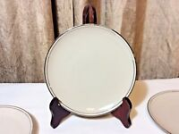 "Vintage Carillon Harmony 6"" Porcelain Bread Plates w/Gold Rim - Set of 4 USA"