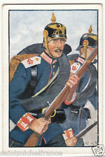 Grenadier Pickelhaube Baden 1870 Deutsches Heer Germany Uniform IMAGE CARD 30s