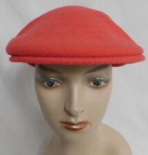 KANGOL BERRY RED 100%  WOOL NEWSBOY CABBIE CAP WINTER CAP  SZ SMALL
