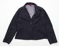 Laura Ashley Womens Size 16 Corduroy Textured Grey Jacket