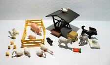 Playmobil Tiere Bauernhof Storch Schweine Esel Hühner usw