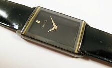 Lassale by Seiko Black Tone Metal 7N00-5C60 Leather Sample Watch NON-WORKING