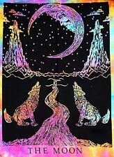 Crying Wolf to The Moon Print Tie Dye (Colours Vary) Single Throw 140 x 210 cm