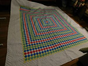 Quilt Handstitched Cotton Multicolor collectible hand crafted new