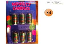 Beer Can Candles Set 6 Piece Novelty Party Supplies