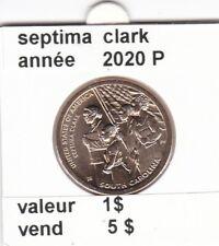 pièces de 1 $ septima clark 2020 P