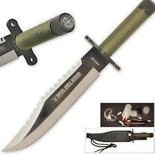 Rambo First Blood Style KNIFE Jungle Survival Blade Compass In Handle