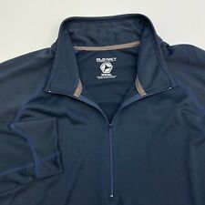 Old Navy Quarter Zip Jacket Mens XXXL Blue Black Long Sleeve Casual Polyester