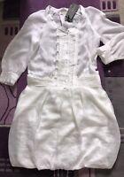 ERMANNO SCERVINO Kleid Gr. DE 38 IT 44 Weiss Damen Neu Dress