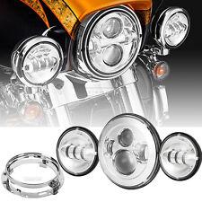 "7"" Daymaker LED Headlight Set For Harley Davidson Heritage Softail Classic FLSTC"