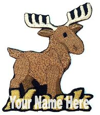Moose Custom Iron-on Patch With Name Personalized Free