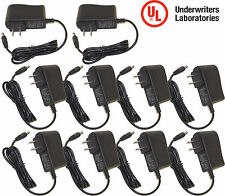 10pcs UL Certified 12V DC 1 Amp 1000mA CCTV Camera Power Supply Charger Adapter
