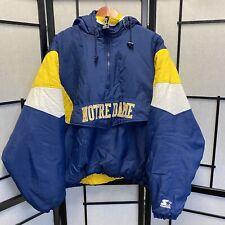Vintage Starter 1/2 zip Notre Dame College Puffer Jacket XL