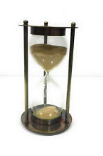 "Unidecor Nautical Replica 4"" Brass Handmade Vintage Sand Timer Collectable"