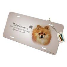 Pomeranian Dog Rescue a Friend Chrome Metal License Plate Frame Tag Border
