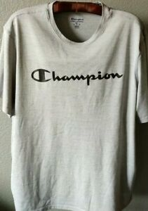 Grey Textured Workout Shirt from Champion (Mens 2XL)