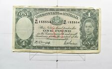 CrazieM World Bank Note - 1939-52 Australia 1 Pound - Collection Lot m761