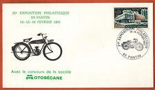 1981-Enveloppe Fdc 1°Jour**Exposition Philatélique-Motobécane-Pantin(93)Yv.1448