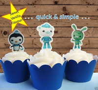 #633. Octonauts EDIBLE cupcake cake toppers stand up birthday