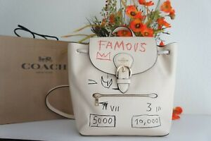 NWT Coach C5662 X Jean-Michel Basquiat Kleo Backpack Leather Ivory Multi $550