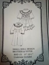 "Small Doll Design Brother & Sister Pattern Bhd 131 fits 10""-10.5"""
