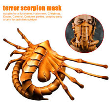 Cosplay Costume Halloween Face Cover Party Latex Masquerade Alien Facehugger