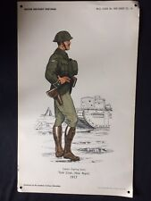 Original Wartime British Military Uniforms Poster - The Institute Of Army Educat