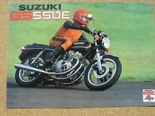 Suzuki GS 550E 1978 catalogue prospectus