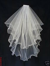Wedding Veil / Bridal Veils Wired Edge Ivory made with Swarovski Crystals