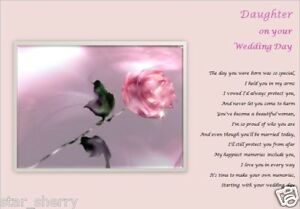 DAUGHTER ON YOUR WEDDING DAY GIFT - personalised gift