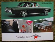 1967 Plymouth Valiant Sales Brochure 67