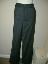 Anne Klein Charcoal Plaid Dress Trousers 10 NWT $225