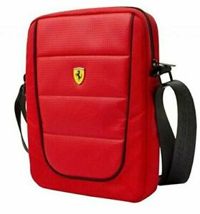 "CG MOBILE FERRARI UNIVERSAL Tablet Laptop Bag Case 10"" Scuderia Red Piping"