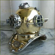 Vintage Brass Boston Divers Helmet ~ Copper Diving Us Navy Mark V Deep Sea Scuba
