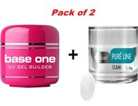 Base One UV Gel Nail BUILDER 50g Silcare Pure Line Clear 50g Nails Acid Free